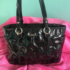 Vintage Coach patent leather handbag
